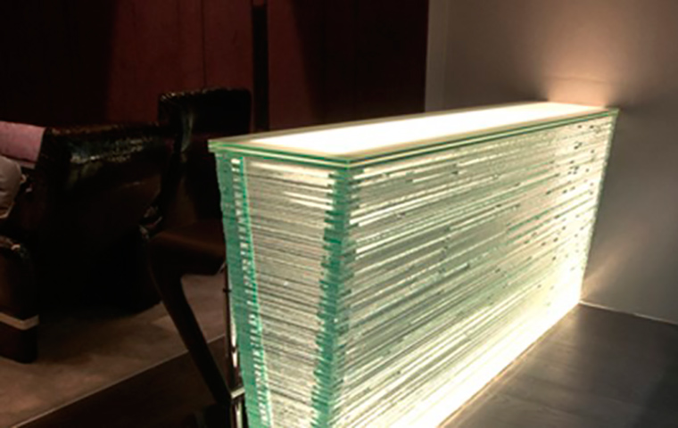 Layered Glass Illuminated Bar