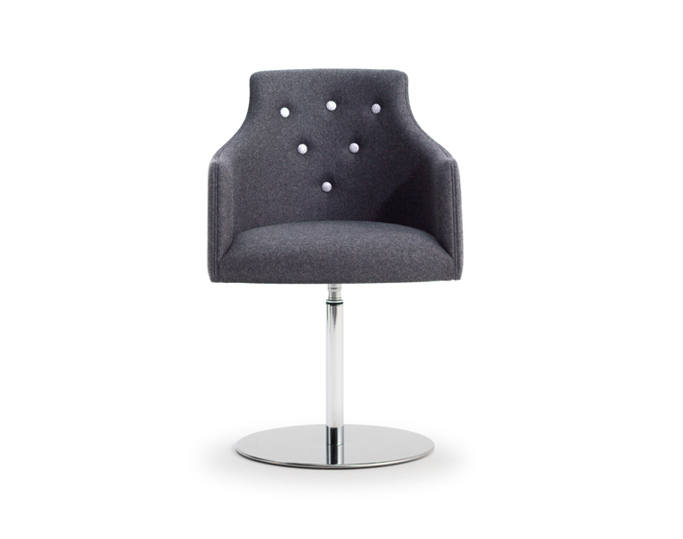 Kaylea Lux Swivel Base Arm Chair