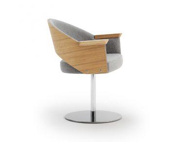 Maria Swivel Base Arm Chair