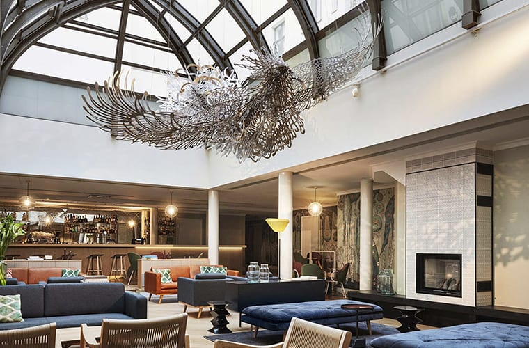 Contemporary Vintage Hotel Lobby