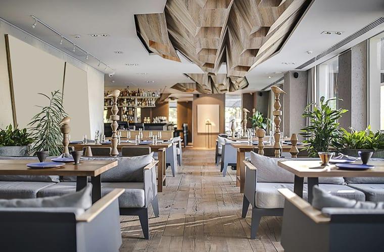 Light Filled Restaurant