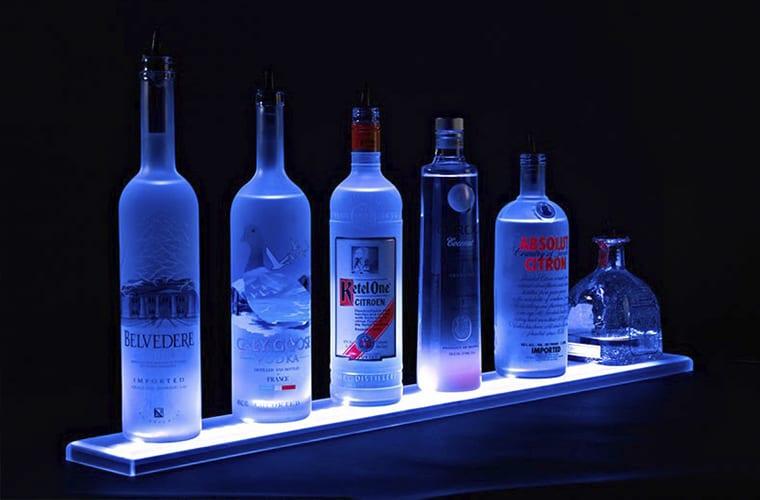 Illuminated Bottle Steps
