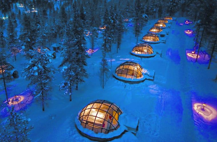 Winter Hotel in the Snow