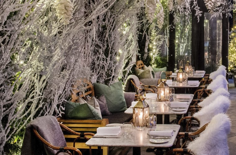 Restaurant Seating with Blankets