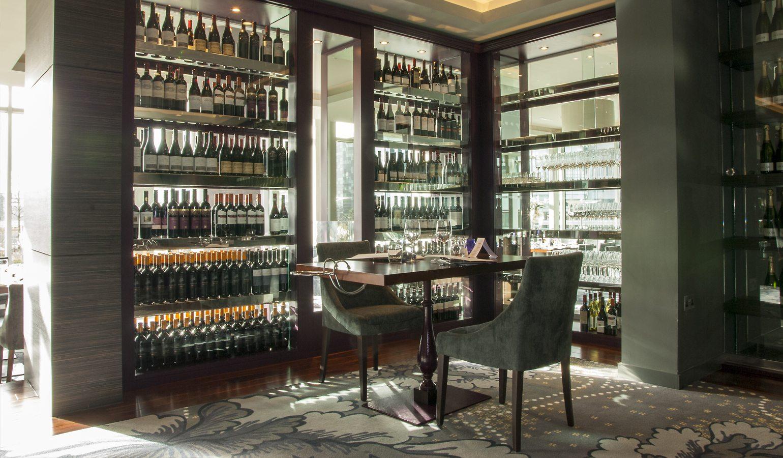 Damson Restaurant Wine Displays