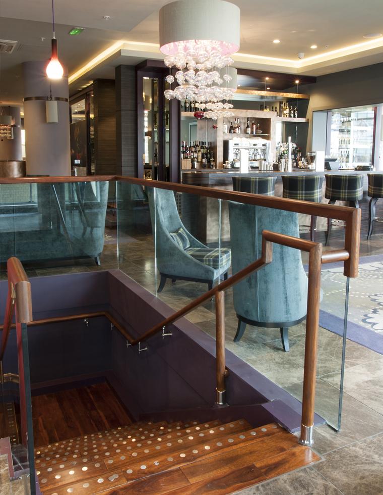 Damson Restaurant Stairs