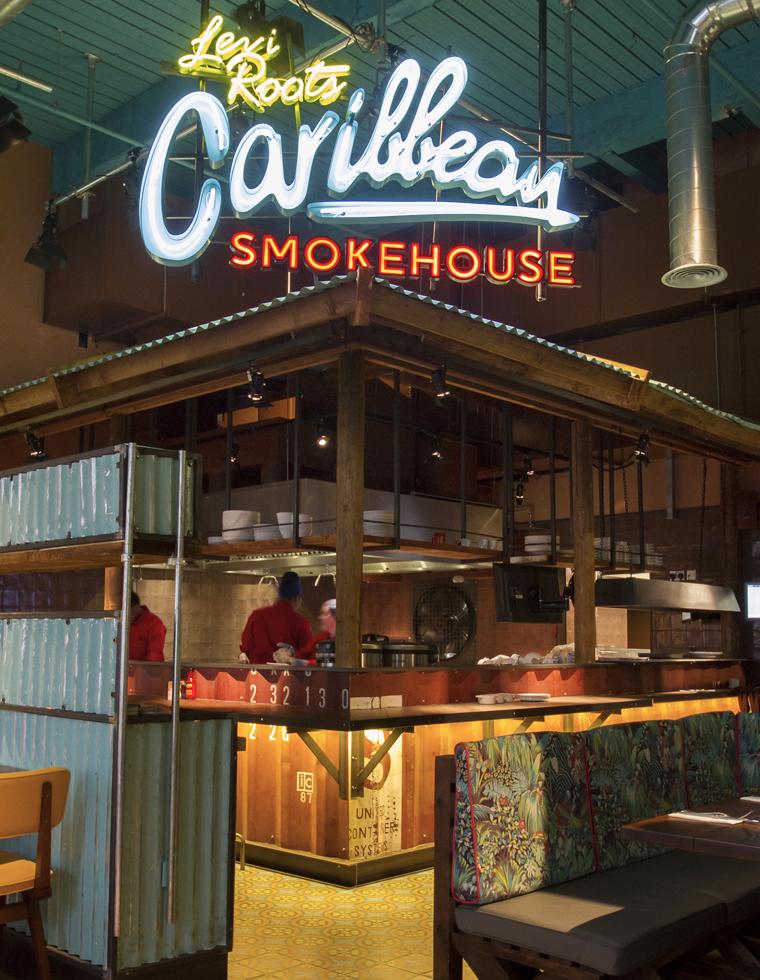 Levi Roots Caribbean Smokehouse Entrance